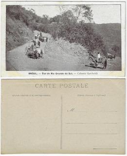 Rs Anos 1910 Cartão Postal Foto Colônia Garibaldi