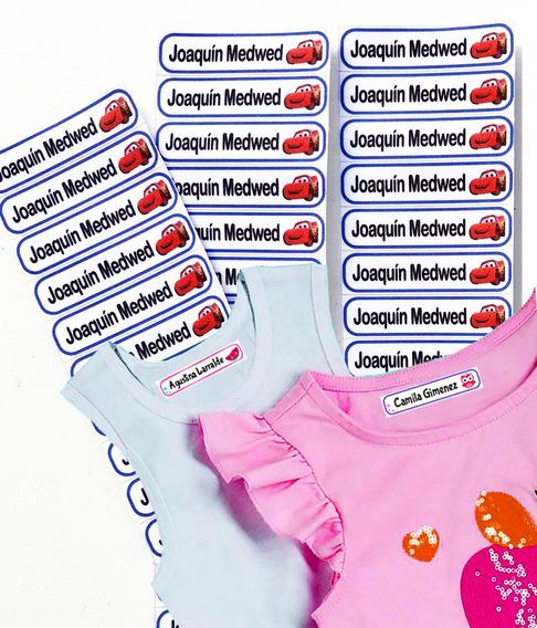 Etiquetas Personalizadas Ropa Nombre Escolar Planchar 46 U.