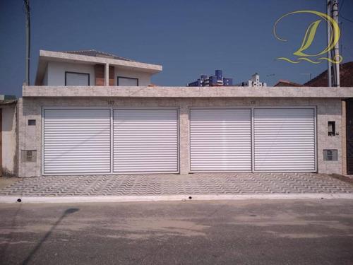 Imagem 1 de 16 de Sobrado Com 3 Dormitórios Com Churrasqueira E Piscina À Venda A 200 Metros Da Praia No Caiçara !! - So0127