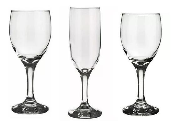 Caja X 12 Copas Vidrio Nadir Windsor Agua Vino Champagne