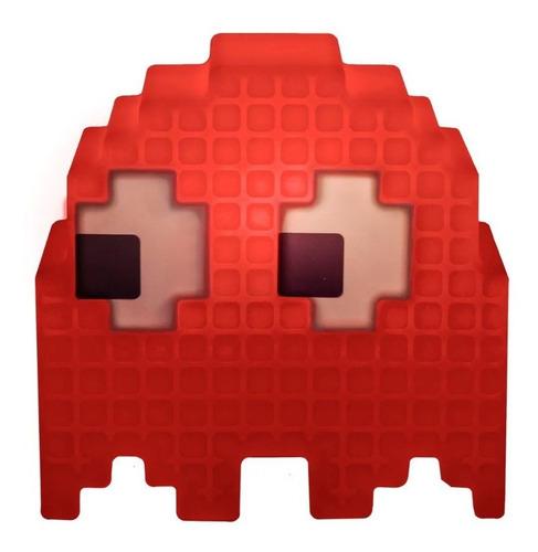 Luminaria De Mesa Criativa 3d Pac Man Fantasma Vermelho