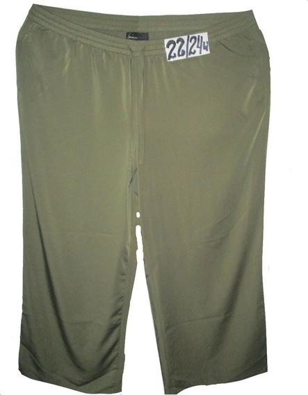 Pantalon Verde Olivo De Vestir Talla 3x (42/44) Lane Bryant