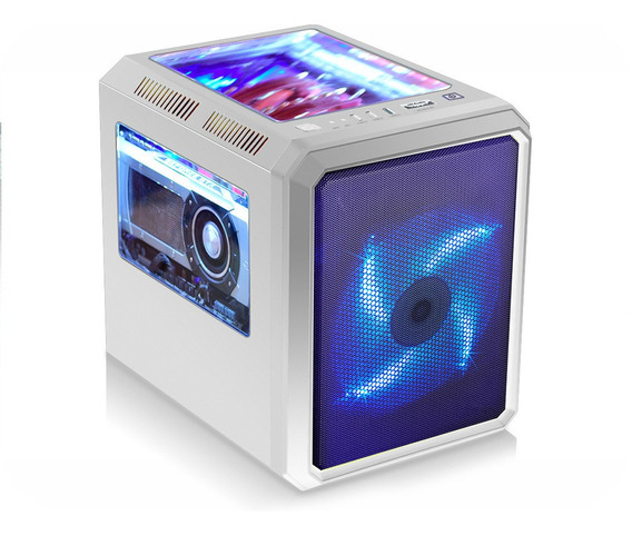 Gabinete Gamer Microcraft Branco 1 Fan 190mm Azul Lançamento
