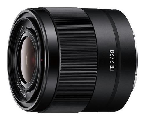 Lente Objetivo Gran Angular Sony 28mm F2 Sel28f20 Full Frame