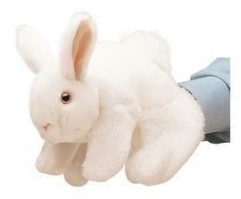 Fantoche De Pelucia Importado Coelhinho Branco