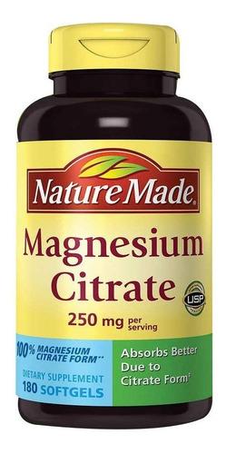 Magnesium Citrate 250mg X 180 Softgel - L a $5