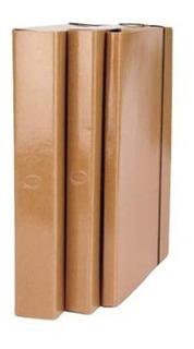Carpeta Caja Archivo Marron Con Elástico Lomo 4cm Por 2 Unid