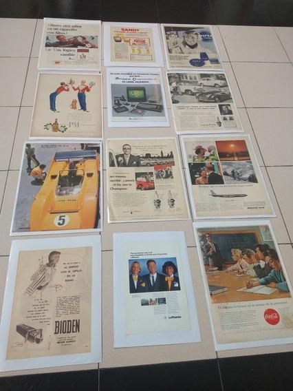 Láminas De Publicidades Antiguas Originales,lote (10)