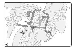 Suporte Lateral Givi Suzuki Dl 650 V-strom 17/19 - Plx3112