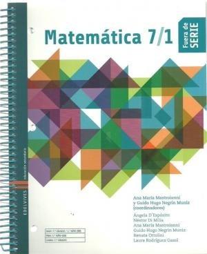 Matemática 7/1 - Fuera De Serie - Edelvives