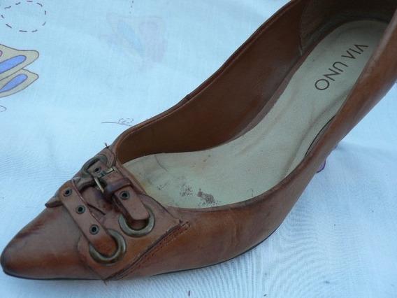 Zapato Cuero Via Uno Nº 36