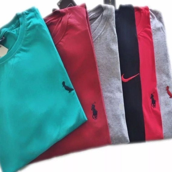 Kit 10 Camisetas Camisas Blusa Masculina Bordada Atacado