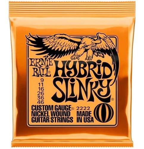Encordado Ernie Ball Eb2222 Hybrid Slinky 009-046