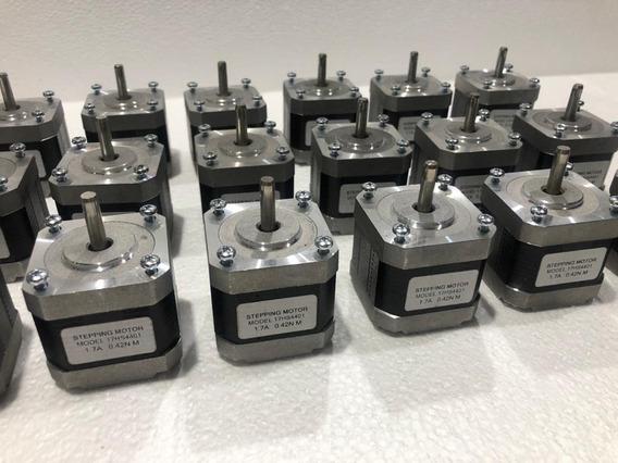 4 Motores Nema 17 - 17hs4401 4.2 Kgf - Menor Preço - Cabo 1m