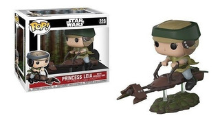 Funko Pop Leia En Speeder Bike 228 Star Wars Baloo Toys