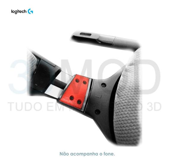 Kit 2 Peça Dobradiça Reposição Fone Logitech G430 G930 F540