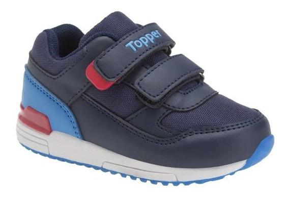 Zapatillas Bebe Topper Lele Azul/rojo - Corner Deportes