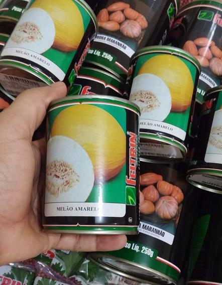 Lata Com 2000 Sementes De Melão Amarelo Feltrin