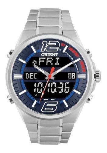 Relógio Analogico Digital Aço Orient Mbssa047 Dvsx