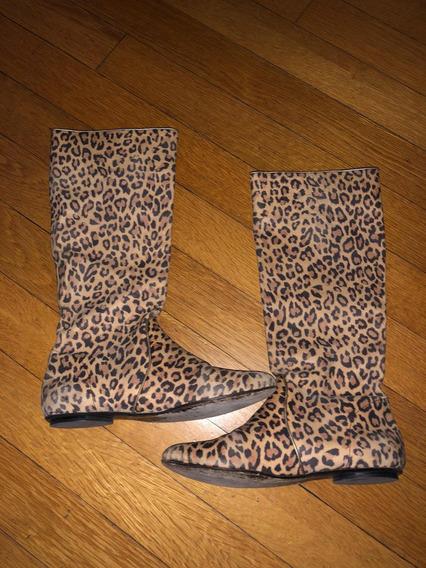 Botas Altas Leopardo Talle 38. Sibyl Vane
