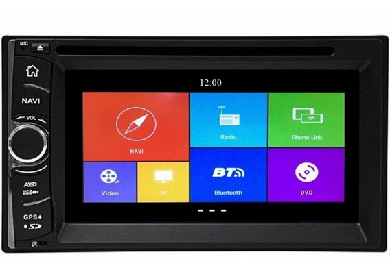 Central Multimídia Hetzer S450 Universal Bluetooth Gps Fm Tv