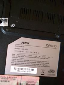 Notebook Cr 400 - Carcaça Com Teclado E Mouse.