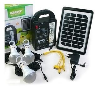 Kit De 3 Lámparas Led Con Panel Solar