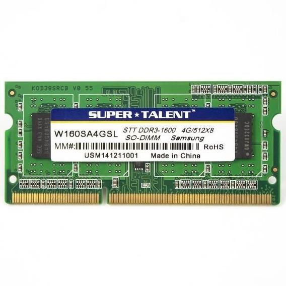 Memoria Sodimm Ddr3 4gb 1600mhz Low Voltaje