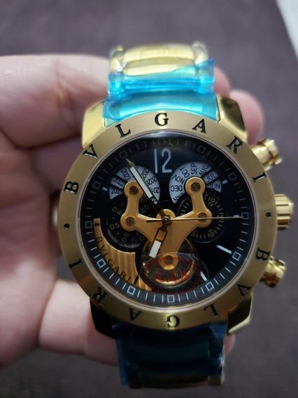 Relogio Bulgari Hybrid Gold/black
