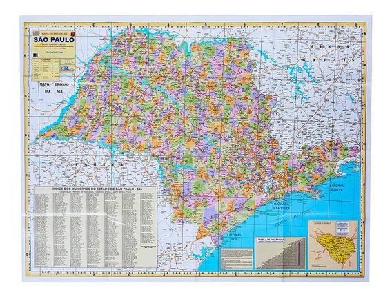 Mapa Do Estado De São Paulo Político E Rodoviário 2019