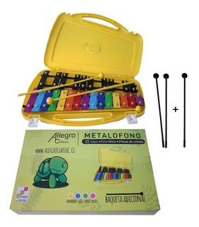 Metalófono Cromático 25 Tonos Caja Plastica Aprobado Mineduc