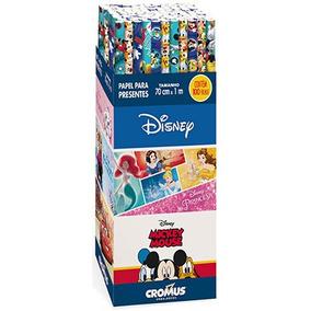 Papel Para Presente Em Rolo 70x100cm Disney 12000041 Cromus