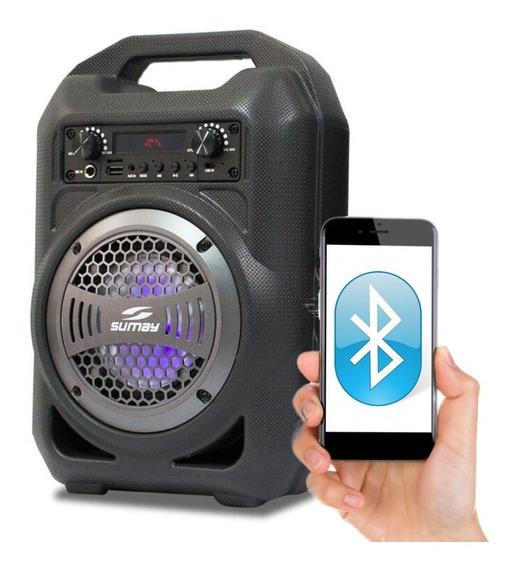 Caixa Som Troca Pasta Bluetooth Sumay Potencia+qualidade+praticidade