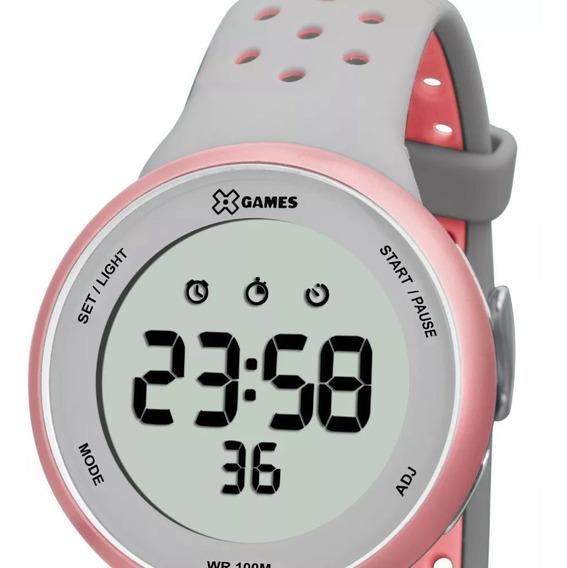 Relógio Feminino Digital X Games Ref: Xfppd039 Bxgr (nf-e)