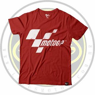 Camiseta Oficial Moto Gp Racing Vermelha Masculina Com Nota