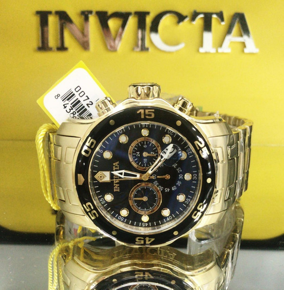 Relógio Invicta Pro Diver 21922 0072 Original Banhado Ouro