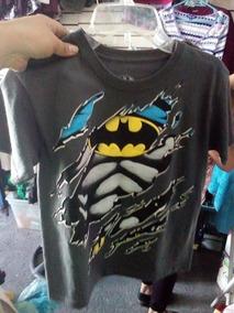 Playera Para Niño De Batman Nueva Original Talla 8