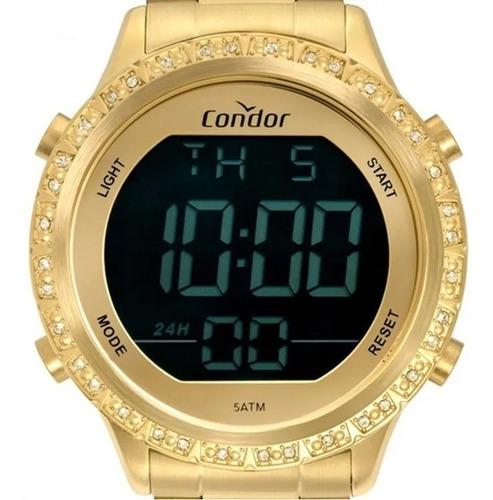 Relógio Condor Feminino Digitaltal Dourado Cobj3463ah/4d