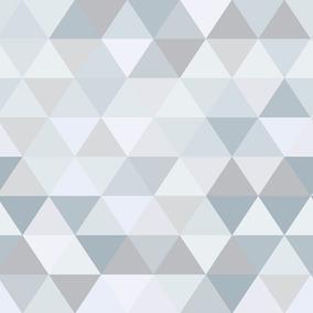 Papel De Parede Triangulo Cinza Branco Adesivo Contact 3m