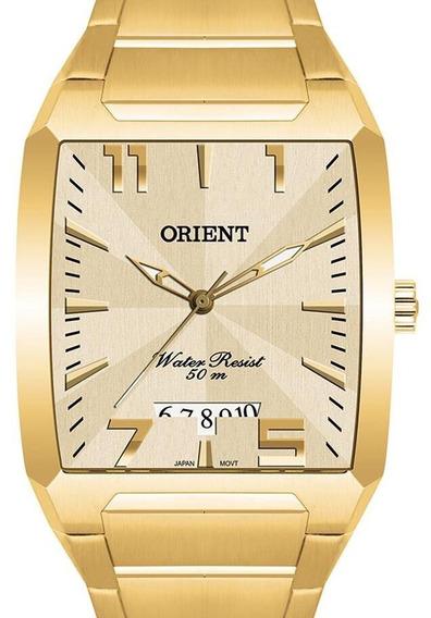 Relógio Orient Masculino Dourado Retangular - Ggss1007 C2kx