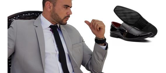 Sapato Verniz Social+terno Slim-4 Cores Elegantes