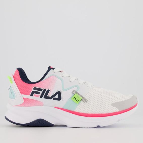 Tênis Fila Racer Motion Feminino Branco E Rosa