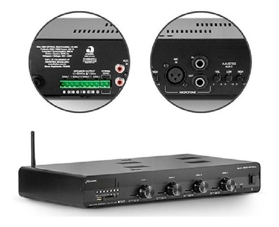 Amplificador De Som Ambiente Frahm Receiver Slim4500 Optical