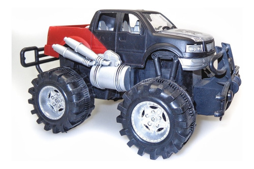 Camioneta Monster Truck De Carrera Negra A Fricción Nenes