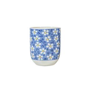 Copo Para Chá Em Porcelana Multiart Azul