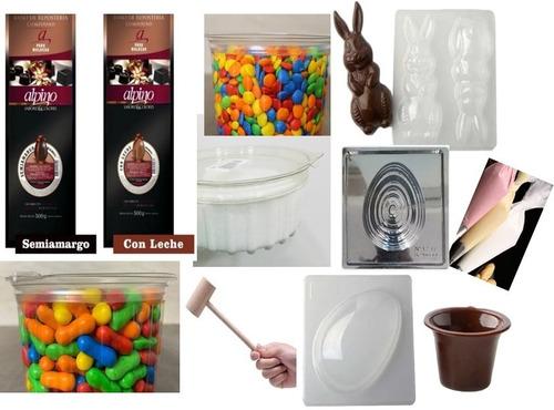 Pascua Combo Full Chocolate Alpino Moldes Confeti Glace Base