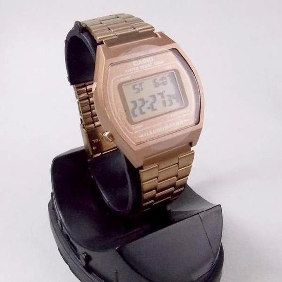 B640wc Relógio Digital Casio Rose Gold Wr50 Luz Alarme Timer