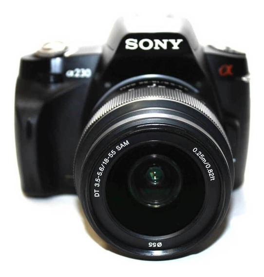 Câmera Sony Alpha A230 Lente 18-55mm Dt 3.5-5.6 Sam Seminova