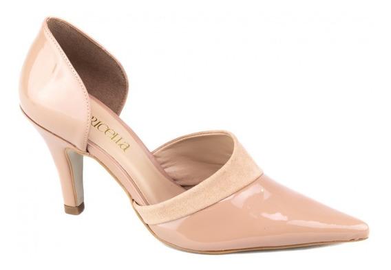 Sapato Scarpin Feminino Luxo Rosê Promoção Lindo Festa