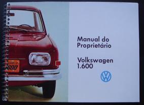 Manual V W 1600 - 4 Portas - Zé Do Caixão - 1969 -